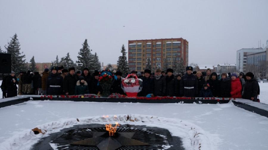 В  Западно-Казахстанской области почтили память воинов Великой Отечественной войны