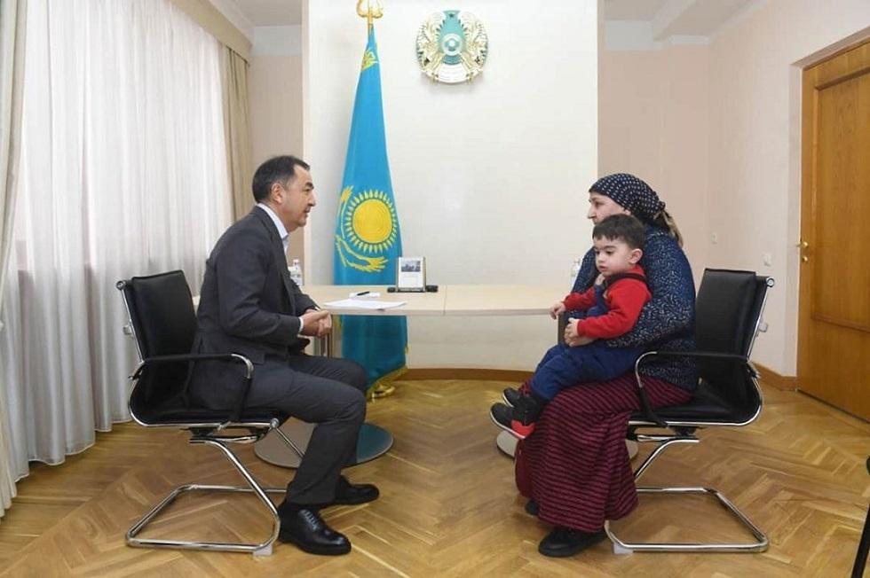 Аким Алматы Бакытжан Сагинтаев провел очередной прием граждан