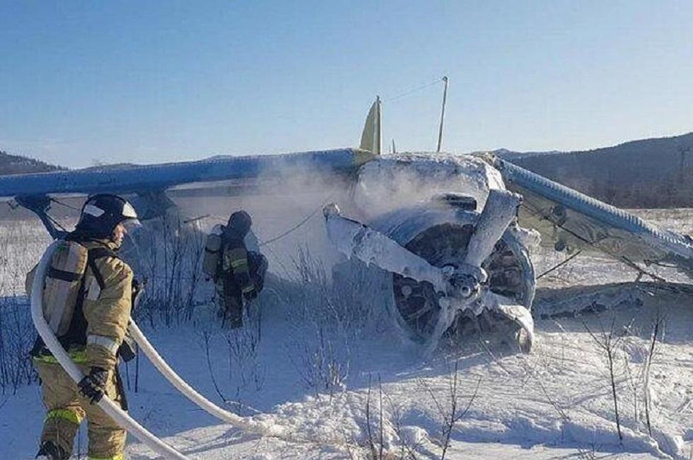 Самолет ударился о землю при взлете в Магадане: семь человек пострадали
