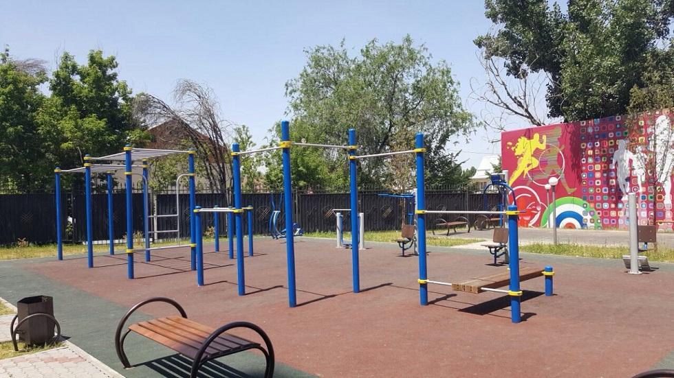 29 спортивных и детских площадок построены в Алматы в рамках программы  «Рухани Жаңғыру»