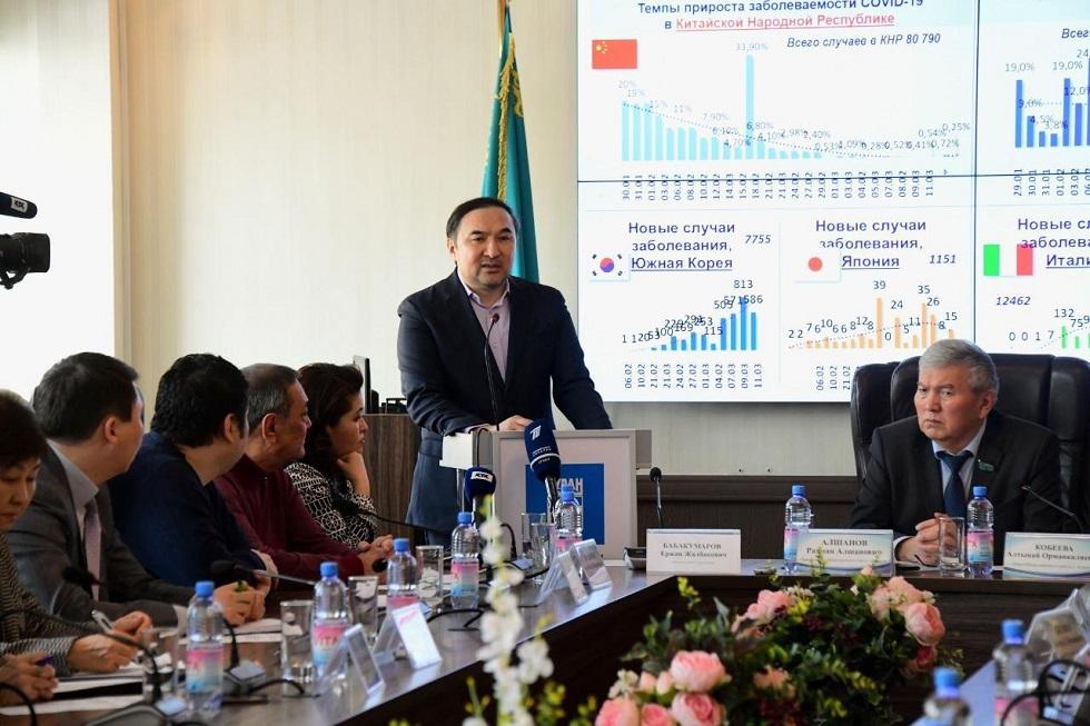 Члены Общественного совета Алматы обсудили план действий на случай проникновения коронавируса