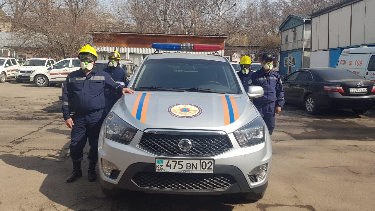 Спасателям Алматы выданы средства для защиты от коронавируса