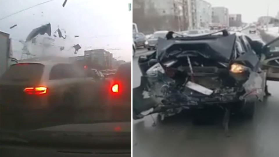 Водитель Audi убил человека, протаранив его авто на светофоре