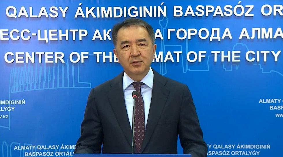 Обращение акима Алматы Бакытжана Сагинтаева к горожанам в связи с введением карантина
