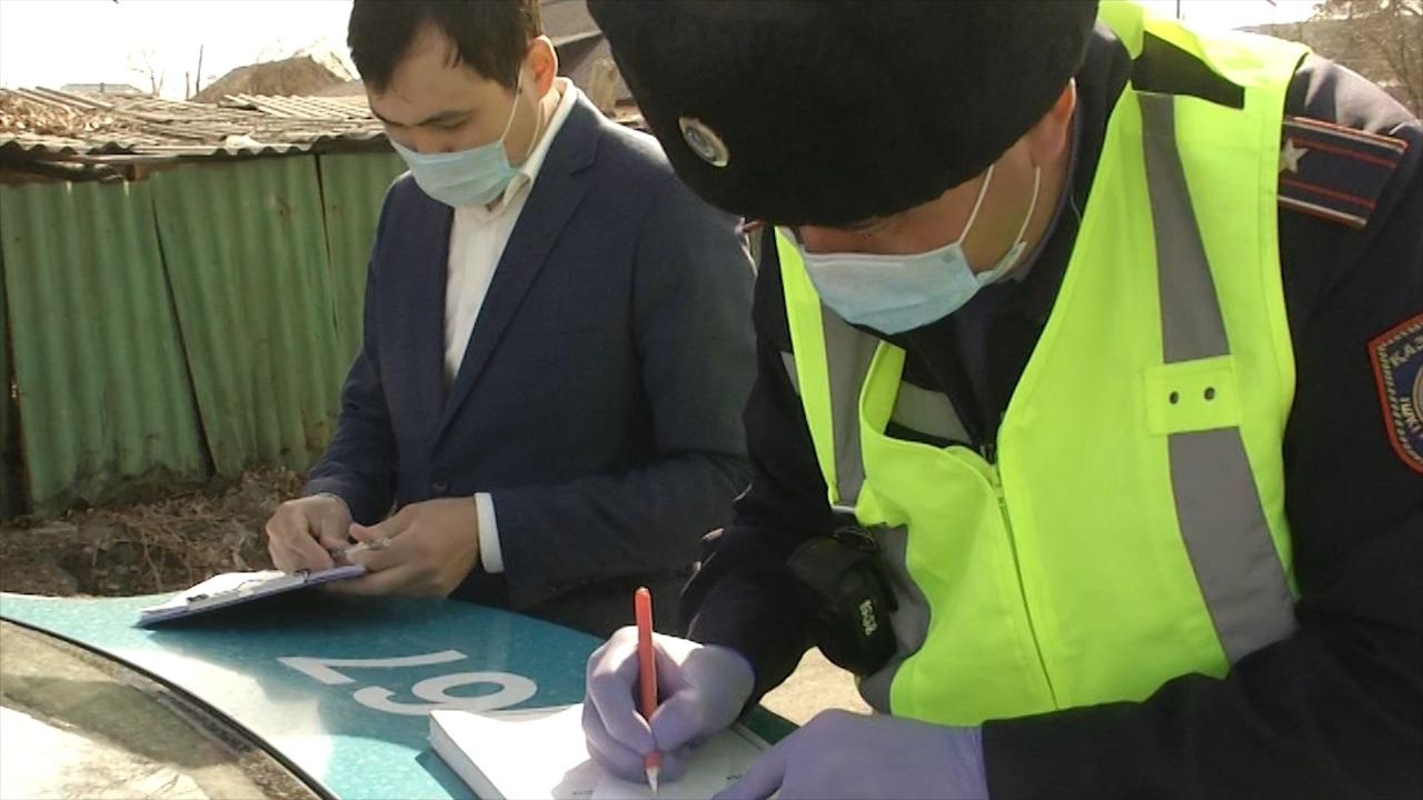 Целенаправленные отработки по нелегальным таксистам проводятся в Талдыкоргане