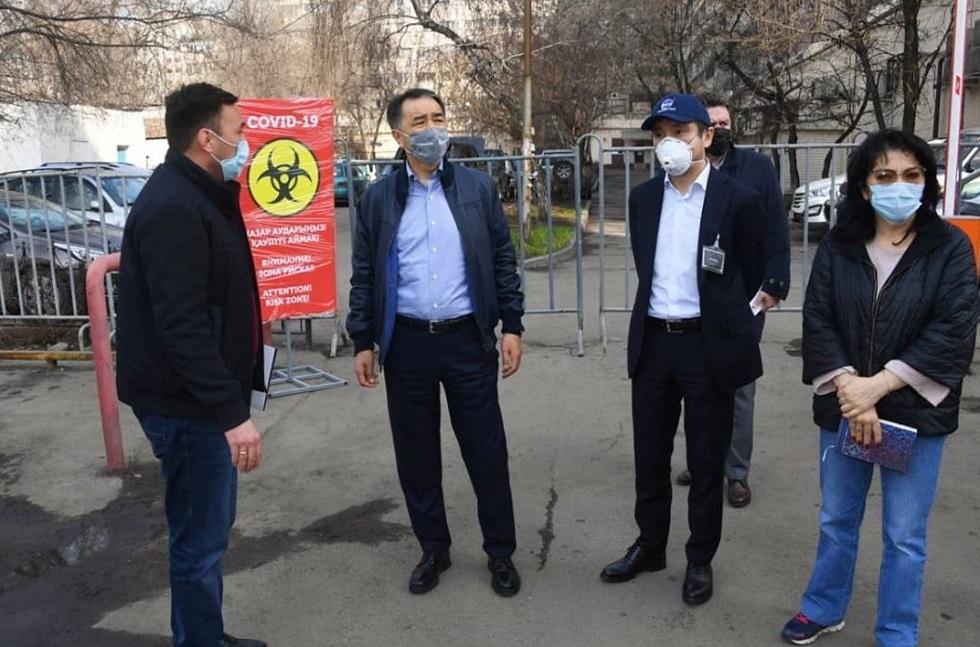 Аким Алматы ознакомился с подготовкой мест для изоляции контактировавших с зараженными коронавирусом