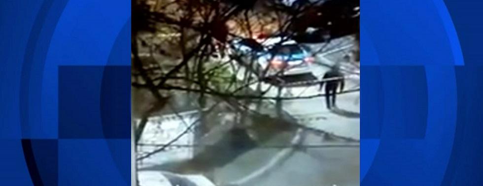 Оцепление очага инфекции засняли очевидцы в Алматы