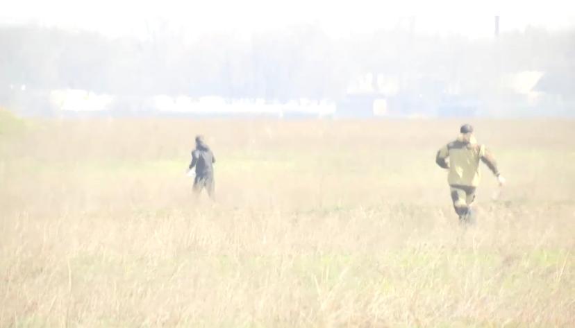 Погоню за нарушителями режима ЧП сняли на видео полицейские в Алматинской области