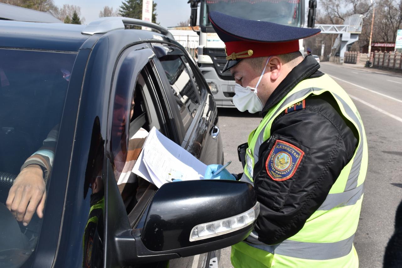 Локацию блокпостов обнародовала полиция Алматинской области