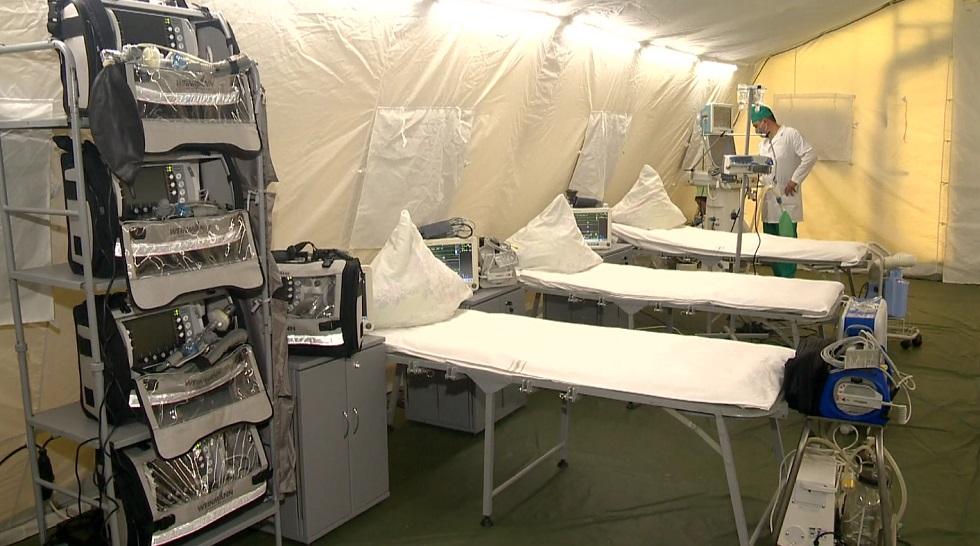Военно-полевой госпиталь для больных коронавирусом развернули в Алматинской области
