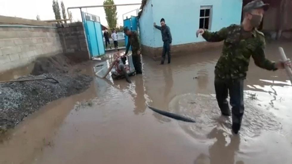 Ликвидация последствий наводнения в Мактааральском районе продолжается
