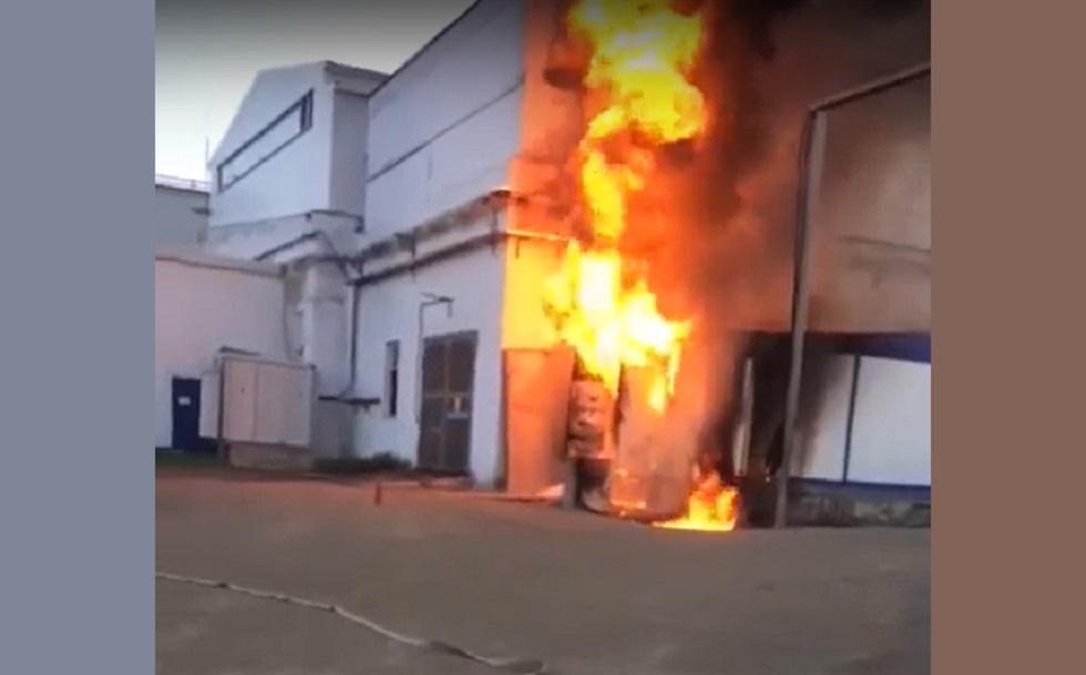 Трансформатор горел в поселке Аксу