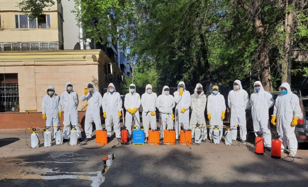 Дезинфекция в Алматы: график работ на 23 мая
