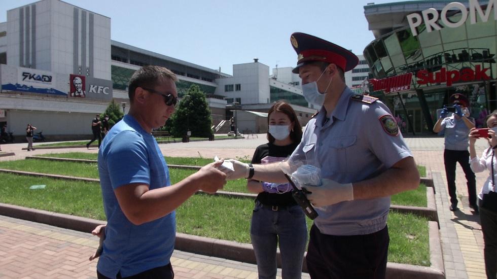 В Алматы усилен масочный режим