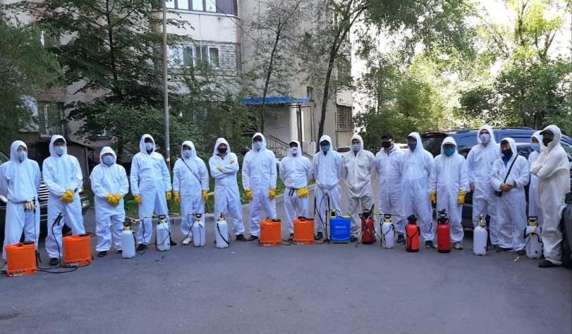 Дезинфекция в Алматы: график работ на 26 мая