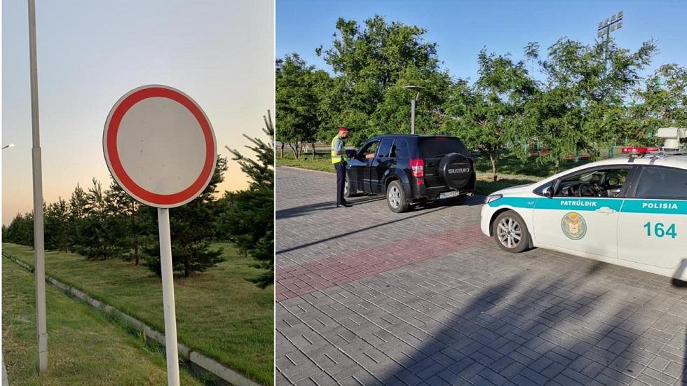Житель Талдыкоргана припарковал авто на тротуаре и получил штраф