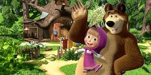 «Маша и Медведь» по будням на телеканале «Алматы» в 10.30