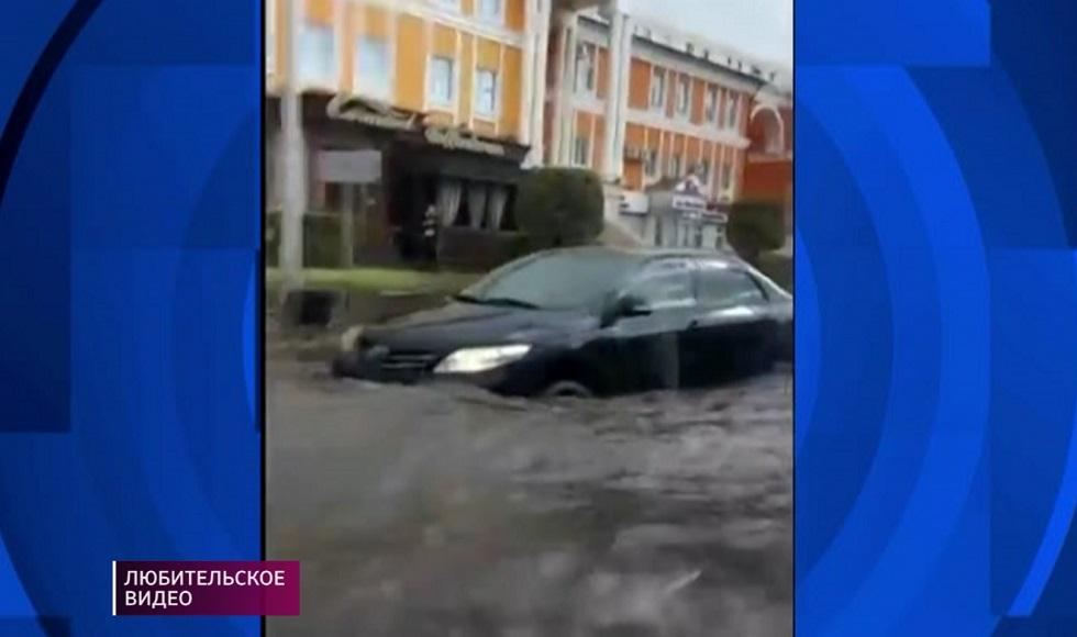 Улицы Нур-Султана в выходные затопило из-за дождя