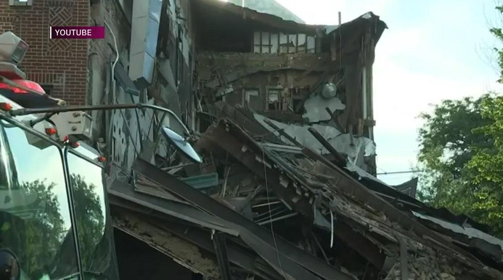 Здание элитного фитнес-центра рухнуло в Нью-Йорке