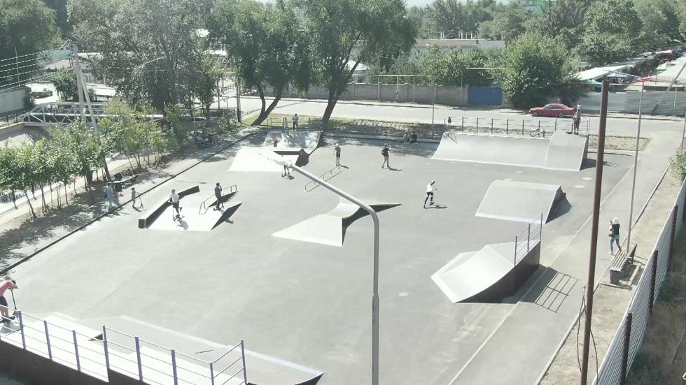 Новый скейтпарк построили в Алмалинском районе Алматы