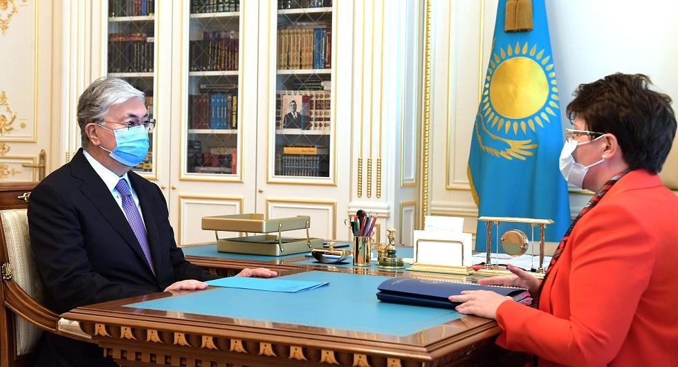 Мемлекет басшысы Есеп комитетінің төрайымы Наталья Годуновны қабылдады