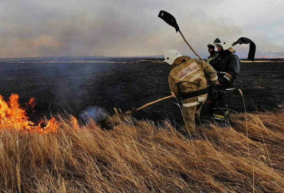 В Казахстане за сутки произошли 18 природных пожаров и степных загораний