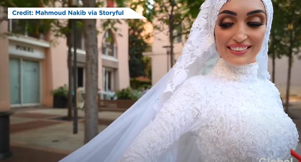 В Бейруте снимали на видео невесту за мгновение до взрыва
