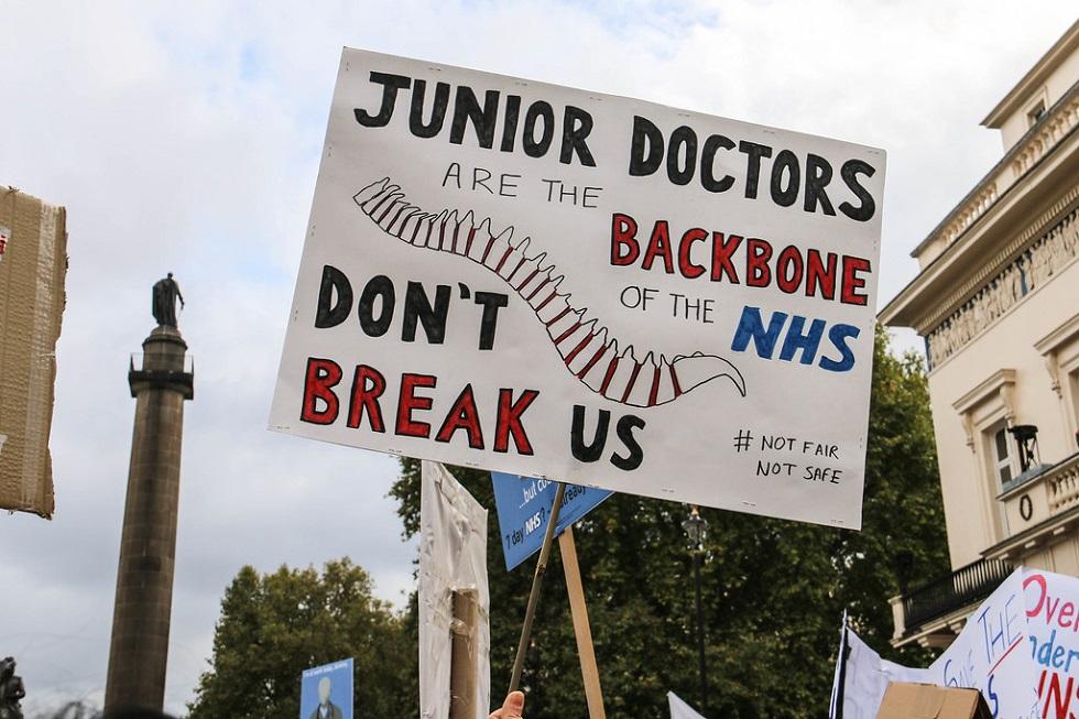 В Великобритании протестуют медицинские работники