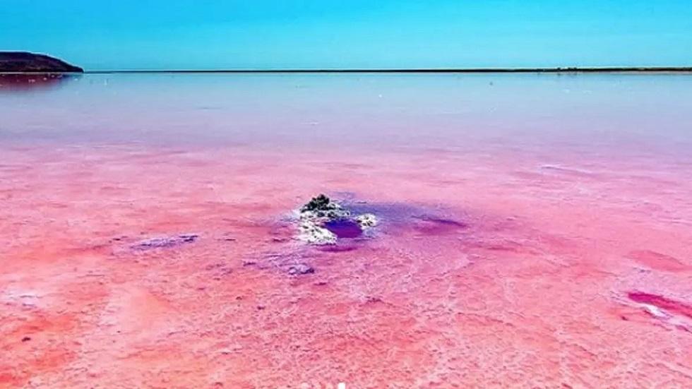 Опасные вещества нашли в розовом озере Кобейтуз