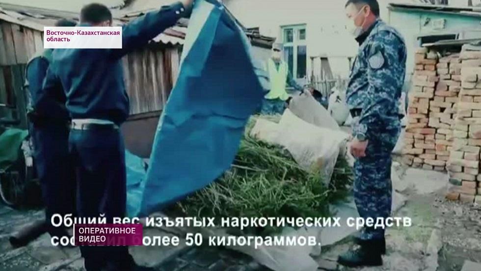 Житель ВКО хранил 50 кг наркотиков во дворе дома
