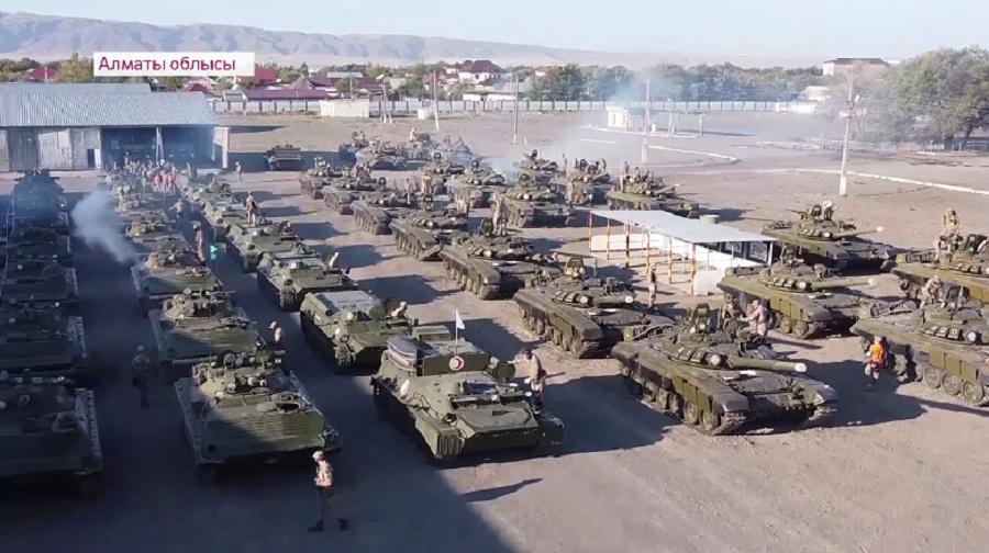 Масштабные военные учения прошли в Алматинской области