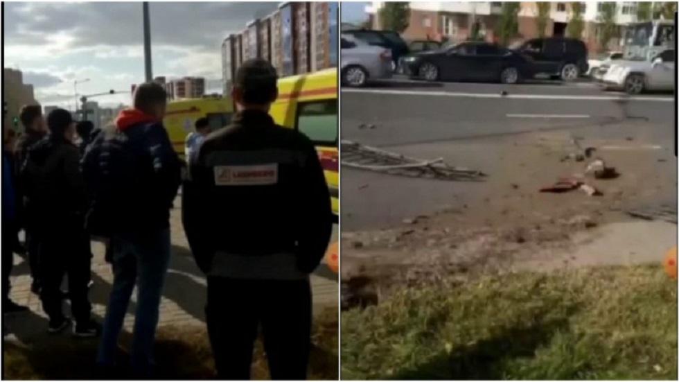 Троих пешеходов сбили в Нур-Султане