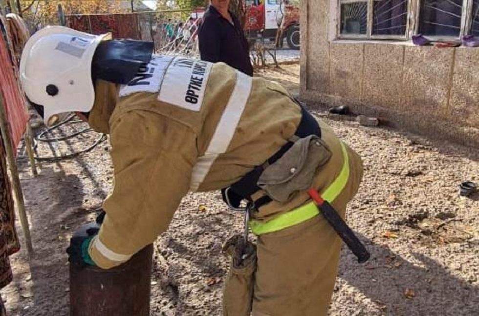 Житель Шымкента пытался взорвать газовый баллон в своем доме, где находились дети