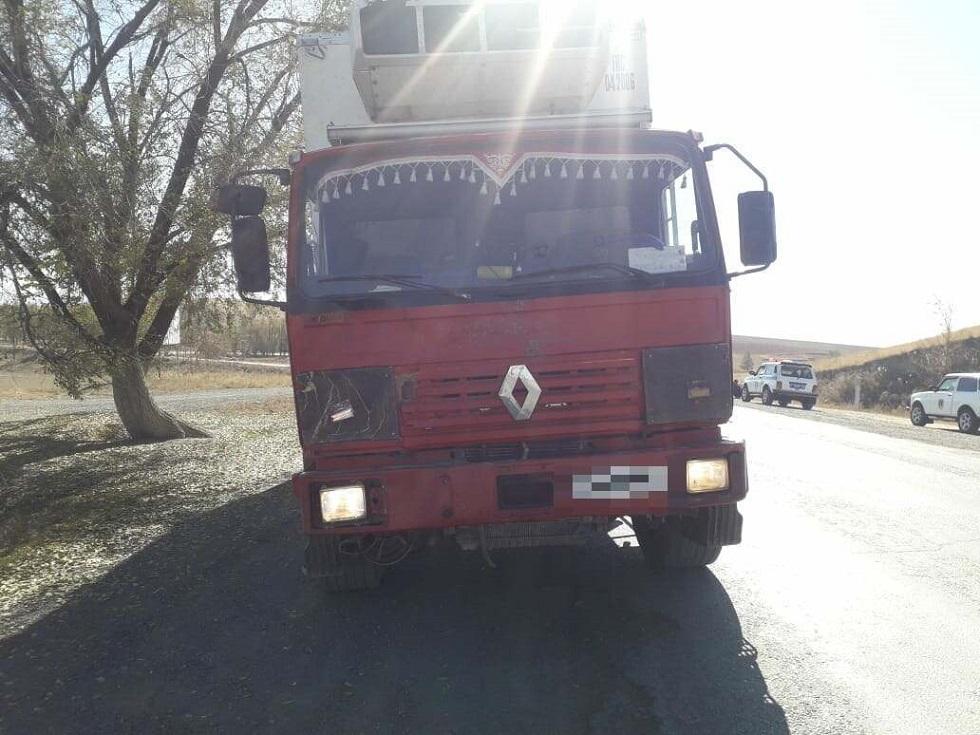 Водитель грузовика сбил насмерть пешехода и скрылся