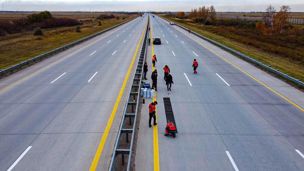 Впервые в Казахстане: «музыкальная» дорога появилась на трассе Нур-Султан – Щучинск