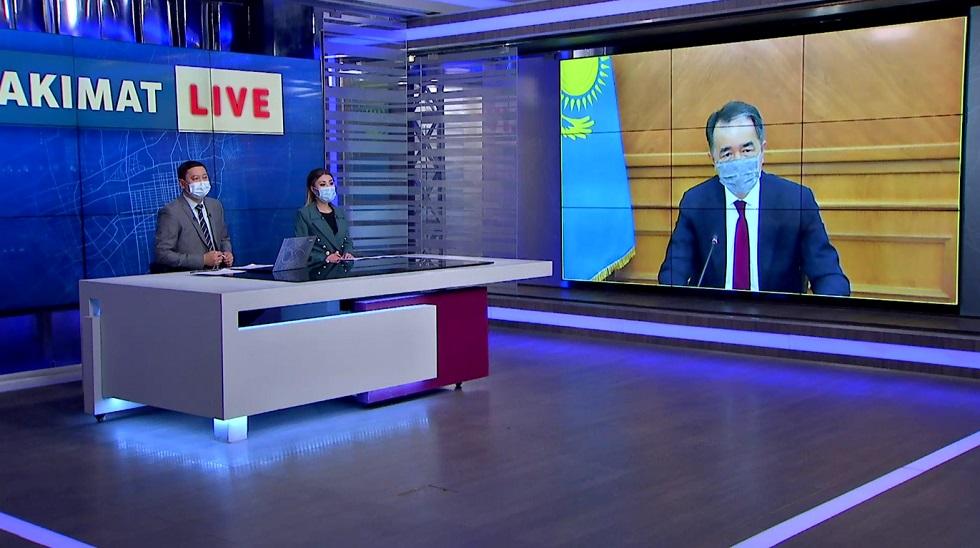 Akimat live эфирінде қала әкімі Б. Сағынтаев тұрғындар сауалына жауап берді