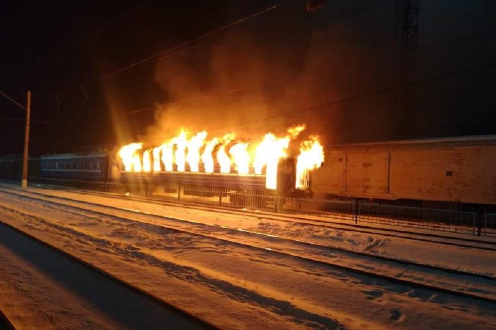 Железнодорожный вагон-ресторан загорелся в Нур-Султане