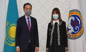 Аким Алматы провел встречу с Временной Поверенной в делах посольства Северной Македонии в Казахстане