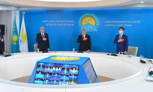 Касым-Жомарт Токаев принял участие во внеочередном XX Съезде партии Nur Otan
