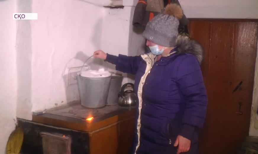СҚО-да ауыл тұрғындары қар ерітіп ішіп отыр