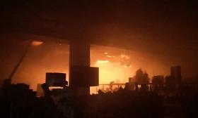 Пожар в Таразе: горели кафе, магазин и баня
