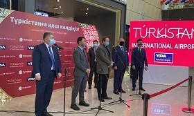 Туркестанский аэропорт принял первый регулярный рейс