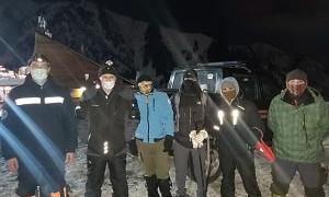 Спасатели Службы 109 нашли заблудившихся туристов в горах