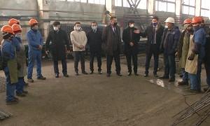Ақжолдықтар «Темірбетон-1» зауытының жұмысшылармен кездесті