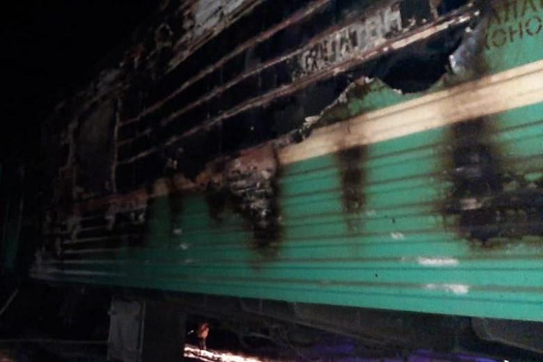 Взрыв газового баллона в пассажирском поезде: есть пострадавшие