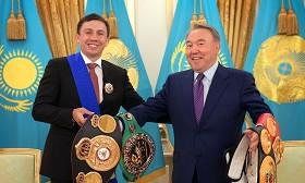 Нурсултан Назарбаев поздравил Геннадия Головкина с победой над Шереметой