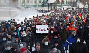 В России проходят несанкционированные митинги в поддержку Навального