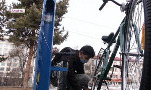 Бесплатные станции самообслуживания для велосипедистов открылись в Алматы