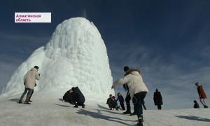 Ледяной вулкан в Алматинской области: посмотреть на чудо съезжаются сотни туристов