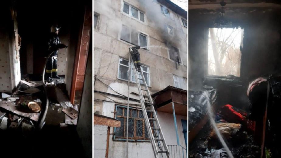 Пожар в Жанатасе: есть жертвы